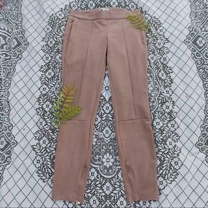 Lila Rose Faux Suede Riding Style Leggings Ankle Zipper Size 4